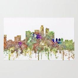 Los Angeles Skyline - Faded Glory Rug