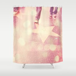Hollywood Los Angeles photograph. Star Gazing. Shower Curtain