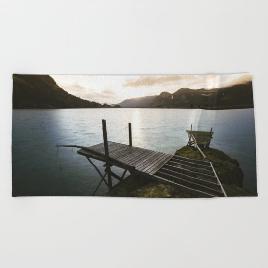 Salmon Sunrise Beach Towel