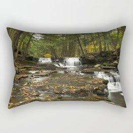 Peaceful Waterfalls Landscape Rectangular Pillow