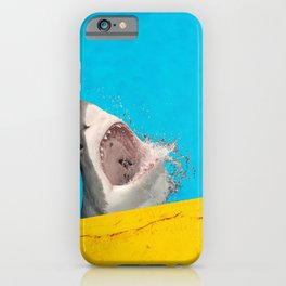 Great white shark in a swimming pool iPhone Case