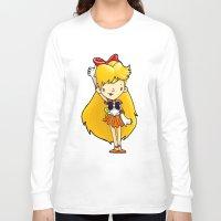 sailor venus Long Sleeve T-shirts featuring Sailor Scout Sailor Venus by Space Bat designs