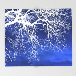 Weeping Tree Abstract Throw Blanket