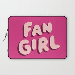 Fangirl in Pink Laptop Sleeve