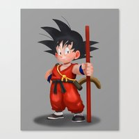 goku Canvas Prints featuring Goku by hectordanielvargas