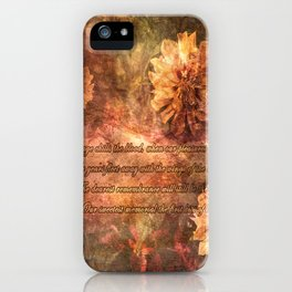 Postcard with lyrics by Lord Byron iPhone Case