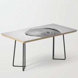 Elephant Tail - Black & White Coffee Table