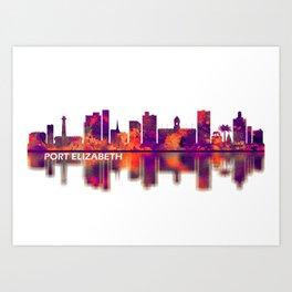 Port Elizabeth South Africa Skyline Art Print