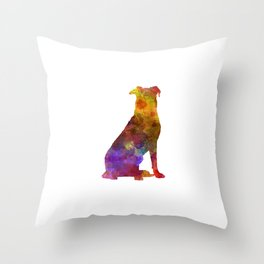 Beauceron in watercolor Throw Pillow