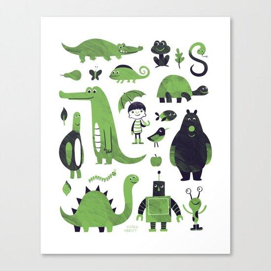 Greens Canvas Print