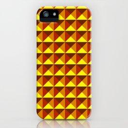 Geometric Blue tones squares pattern iPhone Case