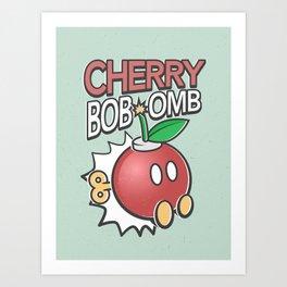 Cherry Bob-omb Art Print