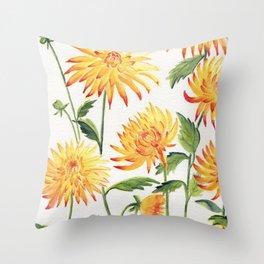 Dahlia Flowers 1 Throw Pillow