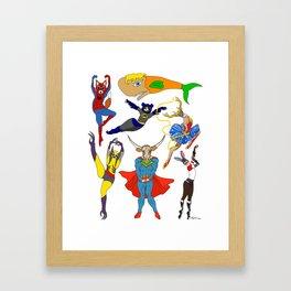 Superhero Animals Framed Art Print