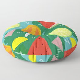 Watermelon, Lemon and Ice Lolly Floor Pillow
