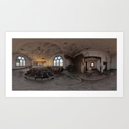 Decrepit Church built in 1897 Art Print