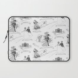 Pride and Prejudice Toile Laptop Sleeve