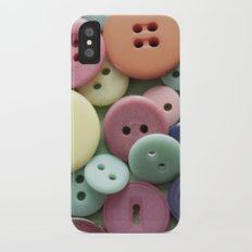 Buttons, Buttons, Galore Slim Case iPhone X