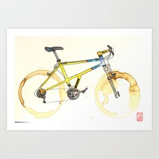 Coffee Wheels #15 Art Print