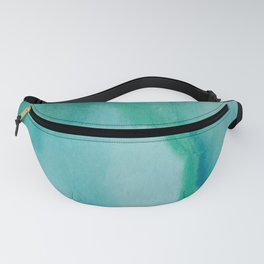 Shades of Green Watercolor Fanny Pack