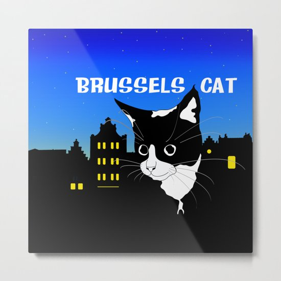 Brussels Cat, Chat de Bruxelles, Belgium Cat. Metal Print