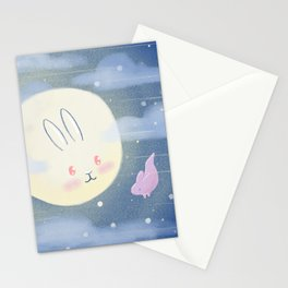 Moon Rabbit Stationery Cards
