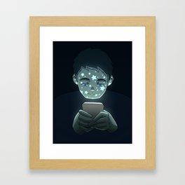 Personas Estrelladas: 02 celular Framed Art Print