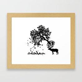 Elk-Naturalle Framed Art Print