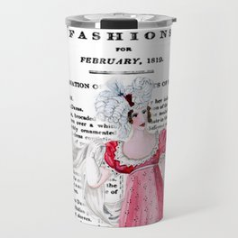 Regency Fashion Plate 1819, La Belle Assemblee Travel Mug