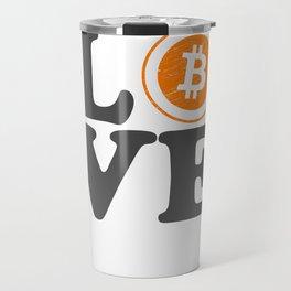 Bitcoin Love Satoshi Blockchain Crypto Currency BTC Travel Mug