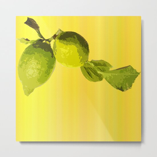 Summer Time Lime Metal Print
