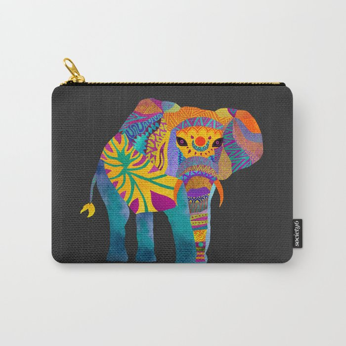 Whimsical Elephant II Carry-All Pouch