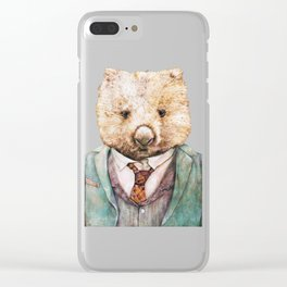 Wombat Clear iPhone Case