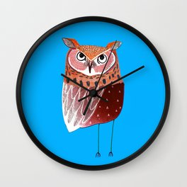Eared Owl. Wall Clock