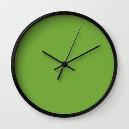 Sushi Green Colour Wall Clock
