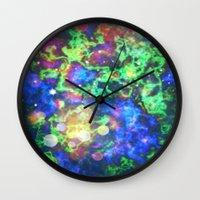 chaos Wall Clocks featuring Chaos by ArtByRobin
