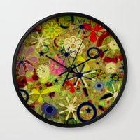 asia Wall Clocks featuring Asia by gretzky