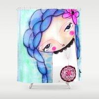 dream catcher Shower Curtains featuring Dream catcher by Atelier Susana Tavares