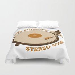 Retro DJ's Turntable Duvet Cover