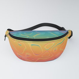 Colorful Holographic Foil Pattern 3d Texture Trendy Colors Fanny Pack