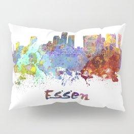 Essen skyline in watercolor Pillow Sham