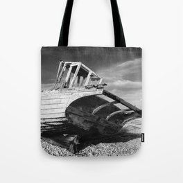 abandoned fishing boat Tote Bag
