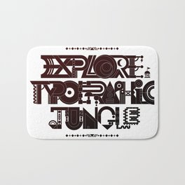 Explore The Typographic Jungle Bath Mat