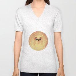 baby owl white Unisex V-Neck