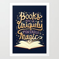 Books are magic Art Print
