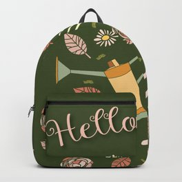 Hello spring - botanical illustration  Backpack