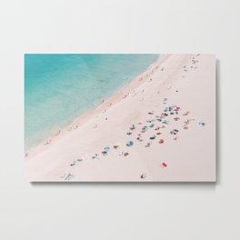 Beach Bliss - Aerial Beach photography by Ingrid Beddoes Metal Print