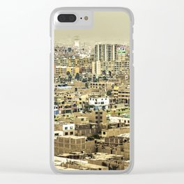 Aerial View of Lima Outskirt, Peru Clear iPhone Case