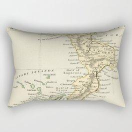 Vintage Retro Map Southern Italy Rectangular Pillow
