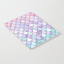 Mermaid Pastel Pink Purple Aqua Teal Notebook
